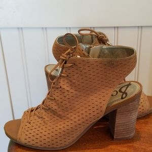 Sam Edelman Ennette Perforated Lace Up Booties